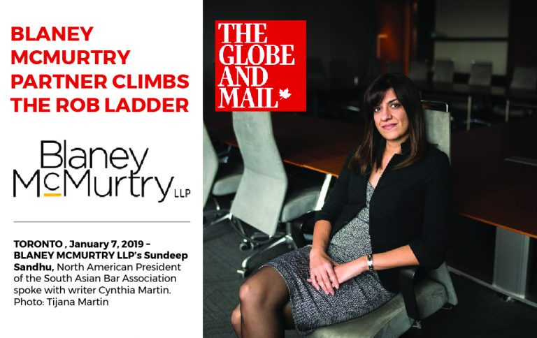 BLANEY MCMURTRY PARTNER CLIMBS THE ROB LADDER