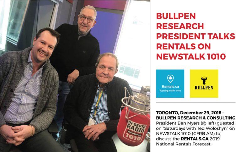 BULLPEN RESEARCH PRESIDENT TALKS RENTALS ON NEWSTALK 1010